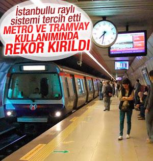 İstanbul'da raylı sistemle ulaşımda artış yaşandı