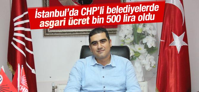 CHP'nin 14 Belediyesinde Asgari Ücret bin 500 Lira Oldu