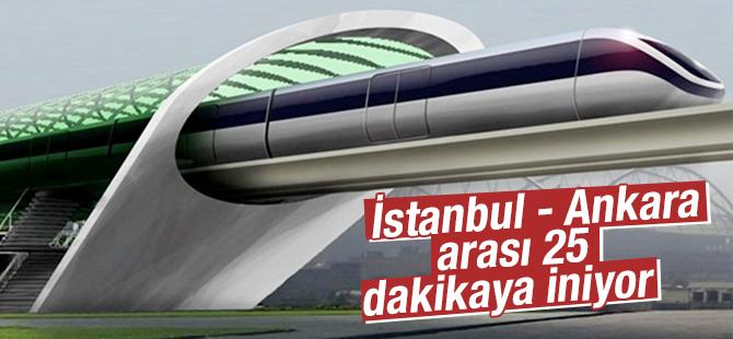 İstanbul- Ankara arası 25 dakikaya iniyor