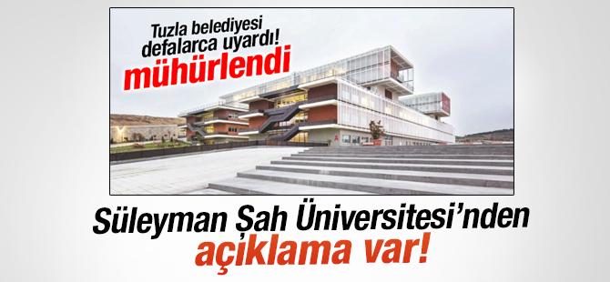 Süleyman Şah Üniversitesi'nde Açıklama Var!