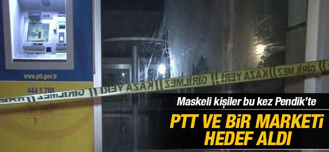 Kavakpınar'da PTT ve Bir Markete molotoflu saldırı