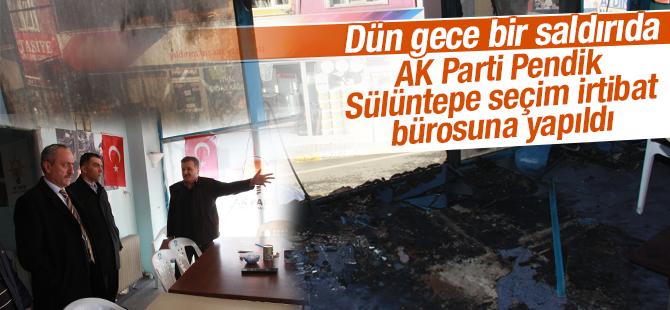 Ak Parti Sülüntepe Seçim İrtibat Bürosuna Molotoflu Saldırı