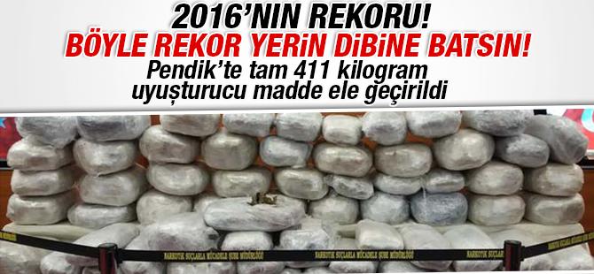 Pendik'te 411 Kilo Uyuşturucu Madde Ele Geçirildi