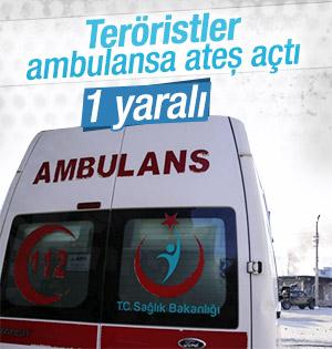 İdil'de teröristler ambulansa ateş açtı: 1 yaralı