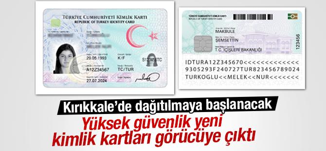 Yüksek güvenlikli yeni kimlik kartları görücüye çıktı