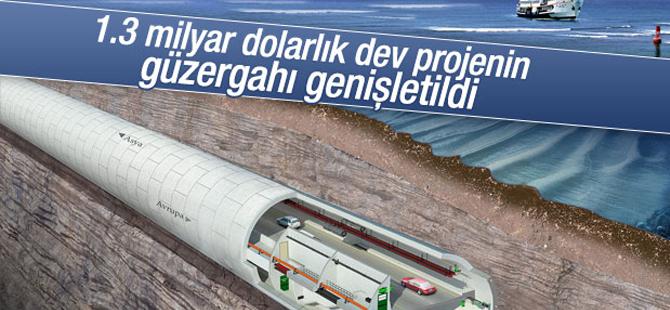 Avrasya Tüneli'nin güzergahı genişletildi