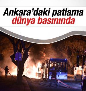 Ankara'daki patlamayı Dünya Basını Böyle Gördü