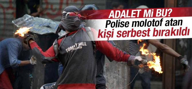 Adana'da polise molotof atan kişi serbest bırakıldı