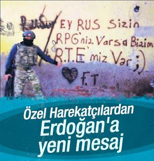 Özel Harekattan Cumhurbaşkanı Erdoğan'a yeni mesaj