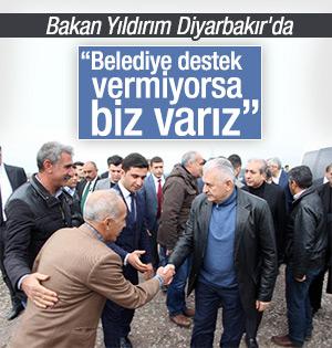 Bakan Binali Yıldırım Diyarbakır'da