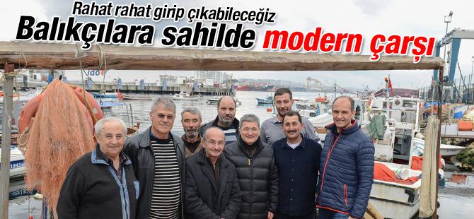 Balıkçılara Sahilde Modern Çarşı