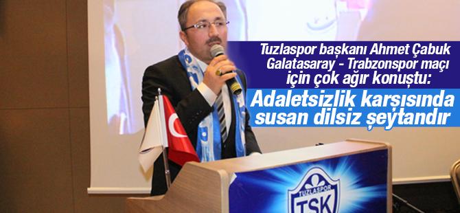 Tuzlaspor Başkanı Ahmet Çabuk'tan TFF ve MHK Ağır Sözler