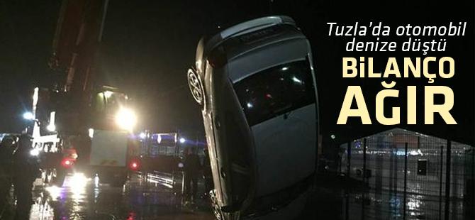 Tuzla'da otomobil denize düştü: 1 Ölü, 3 Yaralı