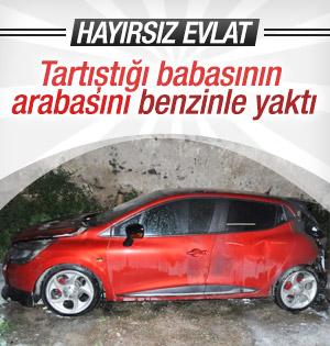 Hayırsız Evlat! Tartıştığı babasının otomobilini yaktı