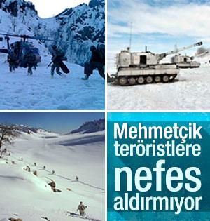 Mehmetçik'ten zorlu kış koşullarında operasyon