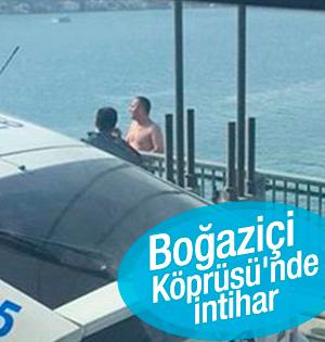 Boğaziçi Köprüsü'nde intihar! Düşme Anı Kamerada