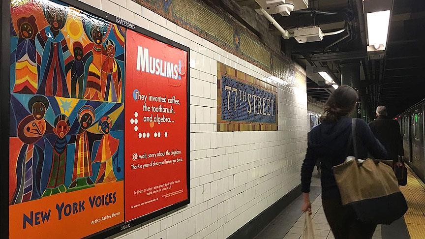 İslamofobi karşıtı afişler New York metrosunda