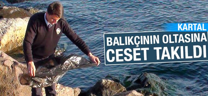 Kartal sahilinde balıkçının oltasına erkek cesedi takıldı