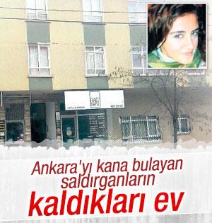Ankara saldırganlarının Gaziosmanpaşa'da kaldıkları ev