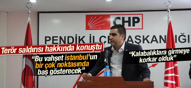 """İlçe Başkanı Kemal Ercan """"Bu vahşet istanbul'un bir çok noktasında baş gösterecek"""""""