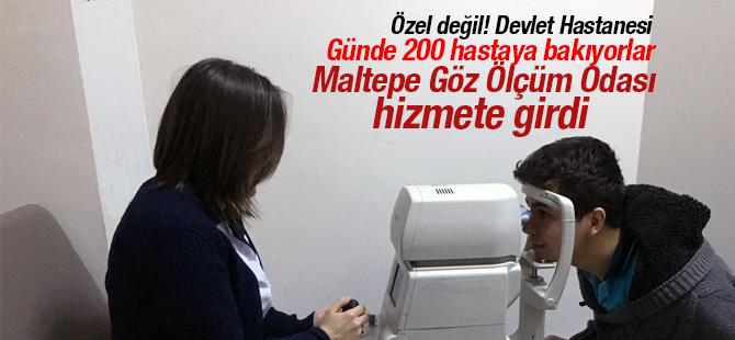 Maltepe Devlet Hastanesinde Göz Ölçüm Odası Hizmete Açılmıştır