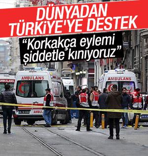 Türkiye'ye ülkelerden destek mesajları