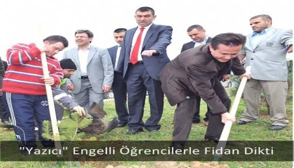 """""""Yazıcı"""" Engelli Öğrencilerle Fidan Dikti"""