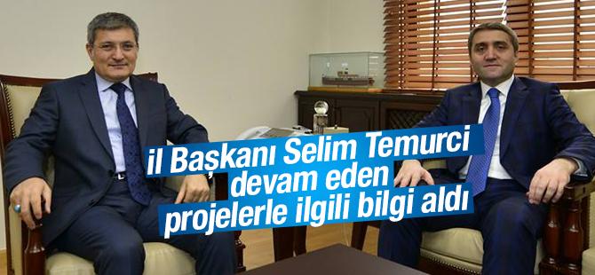 Başkan Şahin, İl Başkanı Temurci'ye Devam Eden Projeleri Anlattı