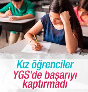 Kız öğrenciler YGS'deki başarılarını erkeklere kaptırmadı