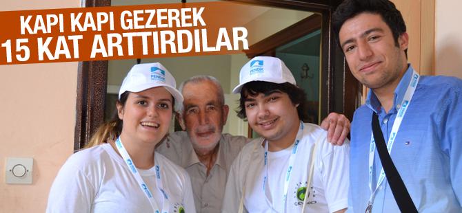 Kapı kapı Gezerek Geri dönüşümü 15 Kat Arttırdılar