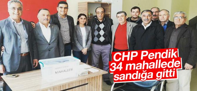CHP Pendik, 34 Mahallede Sandığa Gitti