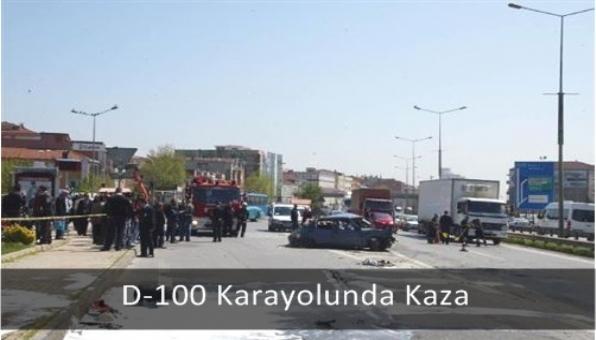 D-100 Karayolunda Kaza