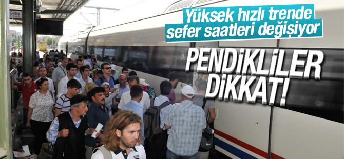 Yüksek Hızlı Tren'de Yaz Tarifesi 15 Nisan'da Başlıyor