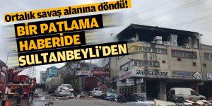 Sultanbeyli'de kozmetik fabrikasında patlama