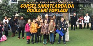 Yakacık Balkanlar Koleji görsel sanatlarda da ödülleri topladı