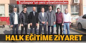 Tuzlaspor'un yeni yönetiminden Halk Eğitime Ziyaret