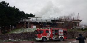 Maltepe'deki ormanlık alandaki restoranda yangın çıktı