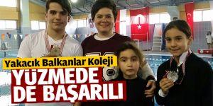 Yakacık Balkanlar Koleji Yüzmede de başarılı
