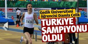 Gedik Üniversitesi öğrencisi Damla Çelik Türkiye Şampiyonu Oldu