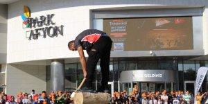 """""""Stıhl Tımbersports Türkiye Şampiyonası"""" Afyon'da ilk kez Park Afyon Alışveriş Merkezi'nde gerçekleştirildi"""