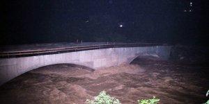 Rize'de sağanak yağış dereleri taşırdı