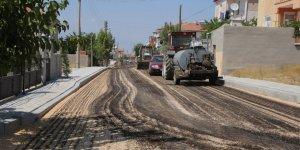Karaman Belediyesinin asfalt çalışmaları sürüyor