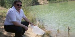 Uşak Banaz ilçesinde göletlere 15 bin yavru balık bırakıldı