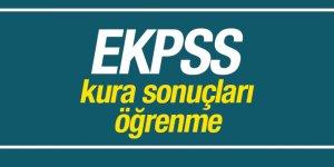 2017 EKPSS kura sonuçları öğrenme