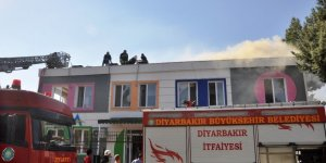 Diyarbakır'da rehabilitasyon merkezinde çıkan yangın korkuttu