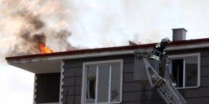Yozgat'ta çatı yangını korkuttu