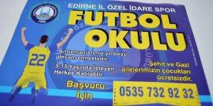 Şehit ve gazi ailelerinin çocuklarına ücretsiz futbol okulu