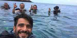 Amikli yöneticiler Samandağ'da deneme dalışında