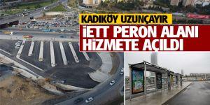 Kadıköy Uzunçayır İETT peron alanı hizmette