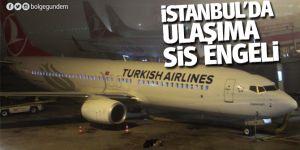 İstanbul'da Deniz ve hava ulaşımına sis engeli